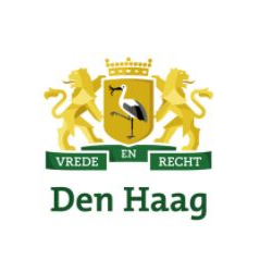Gemeente den Haag Hague municipality logo green gold two lions coat of arms
